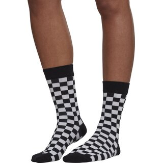 Urban Classics - Checker socks - 2er Pack