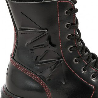 Boots & Braces - 8-Loch - easy - BAT - schwarz/ rot
