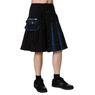 Dead Threads - Kilt - schwarz/ blau