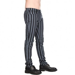 Black Pistol - Close Pants Stripe - grau/schwarz gestreift