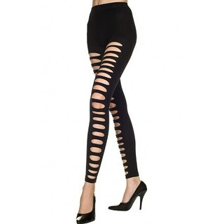Music Legs - 35229 - Spandex Big Hole Footless Tights - schwarz
