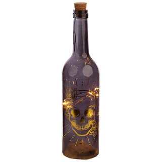 LED Flasche - Totenkopf