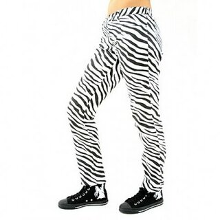 Black Pistol - Close Pants Zebra - schwarz/weiss 30 Inch