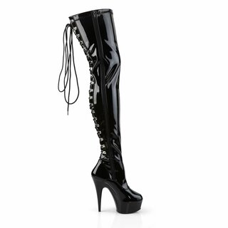 Pleaser - Delight-3063 - Lack - schwarz